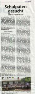 2013-08-21-Schulpaten gesucht Wochenblatt