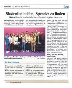 2014-08-07 - Zeitung Neu-Ulm